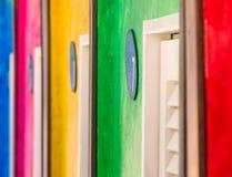 五颜六色的抽象背景-意大利海滩 免版税库存图片
