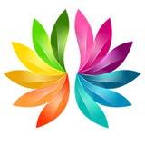 五颜六色的抽象花卉设计 库存照片