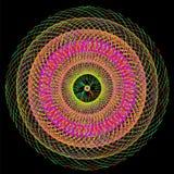 五颜六色的抽象荧光的艺术背景 免版税库存图片