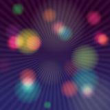 五颜六色的抽象荧光的艺术背景 库存图片