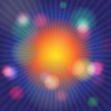 五颜六色的抽象荧光的艺术背景 图库摄影