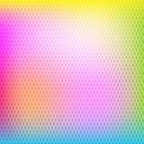 五颜六色的抽象蜂窝几何背景 免版税库存照片