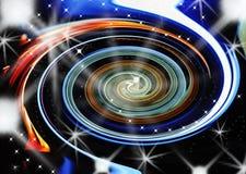 五颜六色的抽象螺旋 库存图片