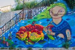 五颜六色的抽象街道艺术 库存照片