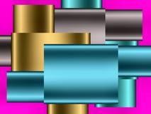 五颜六色的抽象配件箱 库存照片