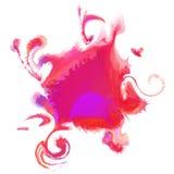五颜六色的抽象水彩污点 向量 皇族释放例证