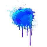 五颜六色的抽象水彩背景的收集 向量 库存例证
