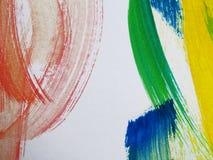 五颜六色的抽象水彩 免版税图库摄影