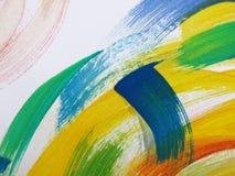 五颜六色的抽象水彩 免版税库存图片