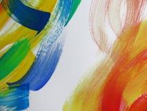 五颜六色的抽象水彩 库存照片