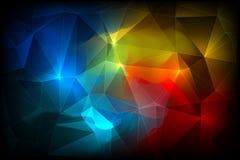 五颜六色的抽象水晶背景 库存例证