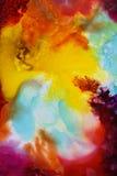 五颜六色的抽象绘画纹理 免版税库存照片