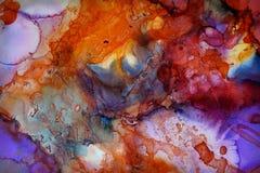 五颜六色的抽象绘画纹理 免版税库存图片