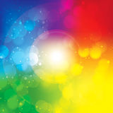 五颜六色的抽象Bokeh传染媒介背景 图库摄影