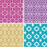 五颜六色的抽象lineart几何无缝 免版税库存照片