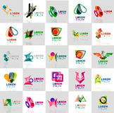 五颜六色的抽象origami商标的汇集 库存照片