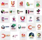 五颜六色的抽象origami商标的汇集 免版税库存图片