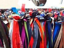 五颜六色的拉链 免版税库存图片