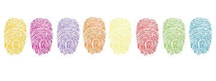 五颜六色的指纹标志传染媒介 皇族释放例证