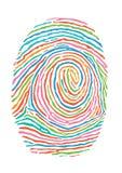 五颜六色的指纹 免版税库存图片