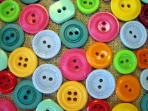 五颜六色的按钮 免版税库存照片