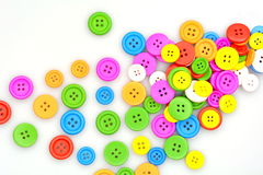 五颜六色的按钮 库存图片