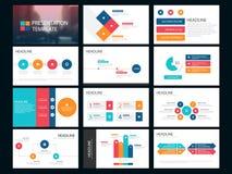 五颜六色的捆绑infographic元素介绍模板 企业年终报告,小册子,传单,广告飞行物, 向量例证