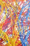 五颜六色的捆绑导线 免版税库存照片
