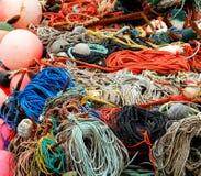 五颜六色的捕鱼网 免版税库存图片