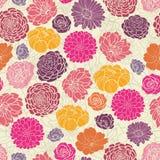 五颜六色的摘要开花无缝的样式 图库摄影