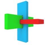 五颜六色的摘要3D形状 皇族释放例证