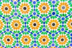 五颜六色的摩洛哥样式背景 免版税库存照片