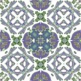 从五颜六色的摩洛哥瓦片,装饰品的华美的无缝的补缀品样式 图库摄影