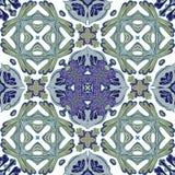 从五颜六色的摩洛哥瓦片,装饰品的华美的无缝的补缀品样式 免版税库存照片