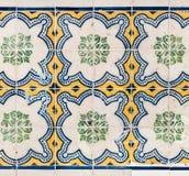 五颜六色的摩洛哥,葡萄牙瓦片, Azulejo,装饰品 可以是 库存照片