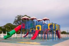 五颜六色的操场公园 库存图片