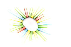 五颜六色的放热星 图库摄影