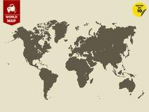 五颜六色的政治世界地图设计 库存照片