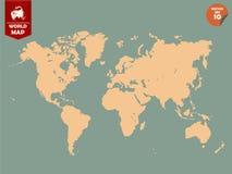 五颜六色的政治世界地图设计 免版税库存照片