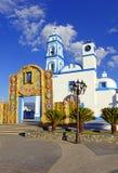 五颜六色的教会,墨西哥 免版税库存照片