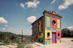 五颜六色的教会 库存照片