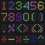 五颜六色的数字和算术标志 图库摄影