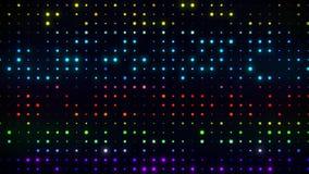 五颜六色的数字式小点代码VJ圈行动图表背景 皇族释放例证