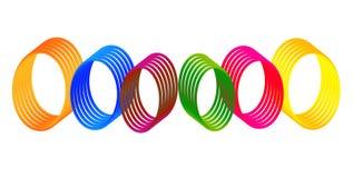 五颜六色的数字式梯度环形 免版税库存照片