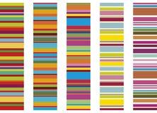 五颜六色的数据条 库存图片