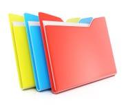 五颜六色的文件夹 免版税库存图片