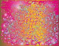 五颜六色的斑点的明亮的欢乐组合后方飞溅  免版税库存图片