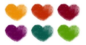 五颜六色的斯诺伊给被设置的心脏赋予生命 股票录像