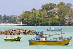 五颜六色的斯里兰卡的渔船4 库存图片