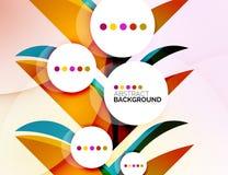 五颜六色的新现代抽象背景 图库摄影